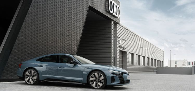 Audi e-tron GT on the road